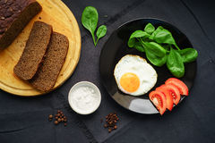Café da manhã claro de produtos frescos Imagens de Stock Royalty Free