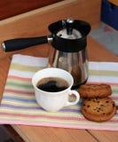 Café da manhã com biscoitos fotografia de stock
