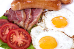 Café da manhã com ovos fritos Fotos de Stock Royalty Free