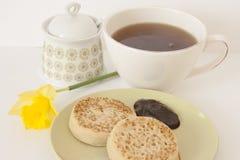 Café da manhã com panquecas Fotografia de Stock Royalty Free