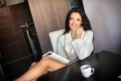 Café da manhã com tablet pc Imagem de Stock