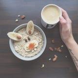 Café da manhã criativo fotografia de stock