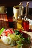Café da manhã da mola com legumes frescos Imagem de Stock Royalty Free