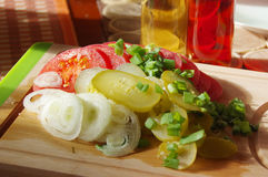 Café da manhã da mola com legumes frescos Fotos de Stock Royalty Free