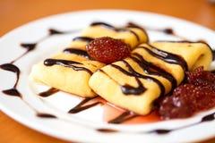 Café da manhã da panqueca Fotografia de Stock Royalty Free