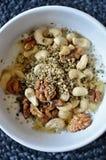 Café da manhã de noz saudável Imagens de Stock