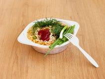 Café da manhã de nutrição rapidamente do cozimento fotos de stock royalty free