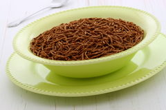 Café da manhã delicioso do cereal do farelo Imagem de Stock
