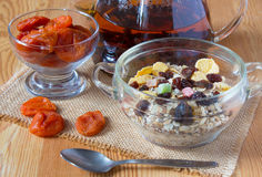 Café da manhã delicioso e saudável Imagem de Stock