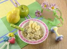 Café da manhã do bebê Fotografia de Stock