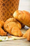 Café da manhã do croissant Fotos de Stock