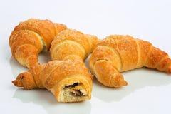 Café da manhã do croissant Foto de Stock