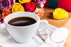 Café da manhã do dia ou do aniversário de Valentim Fotos de Stock