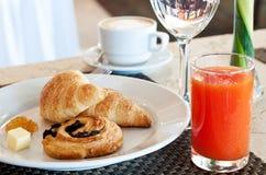 Café da manhã do hotel Fotografia de Stock