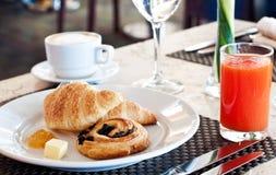 Café da manhã do hotel Fotos de Stock Royalty Free