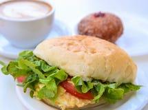Café da manhã do negócio fotografia de stock