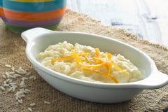 Café da manhã do papa de aveia do arroz Fotos de Stock Royalty Free