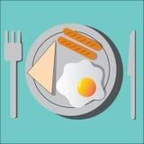 Café da manhã do vetor ilustração do vetor