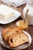 Café da manhã dos biscoitos e do leite Fotos de Stock Royalty Free