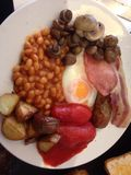Café da manhã em Inglaterra fotos de stock