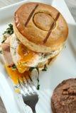 Café da manhã em um bisket imagens de stock royalty free