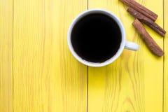 Café da manhã em um copo com canela Fotografia de Stock