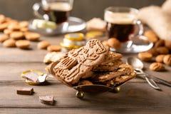 Café da manhã festivo de Sinterklaas do feriado holandês fotos de stock royalty free