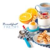Café da manhã fresco. imagens de stock royalty free