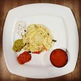 Café da manhã indiano de Upma fotos de stock royalty free