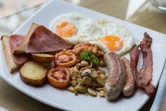 Café da manhã inglês caseiro Fotos de Stock Royalty Free