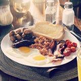 Café da manhã inglês com filtro do instagram Imagens de Stock