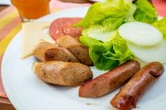 Café da manhã inglês na baixa profundidade de campo imagens de stock