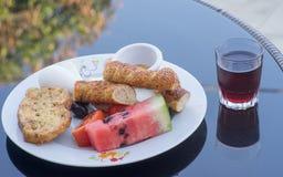 Café da manhã mediterrâneo Imagens de Stock Royalty Free