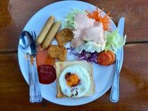 Café da manhã misturado da variedade fotografia de stock