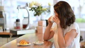 Café da manhã na barra vídeos de arquivo