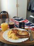 Café da manhã na cama fotos de stock