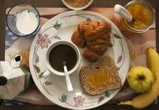 Café da manhã na maneira italiana imagens de stock