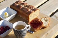 Café da manhã na manhã Imagens de Stock