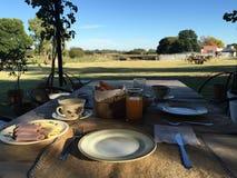 Café da manhã na natureza Foto de Stock