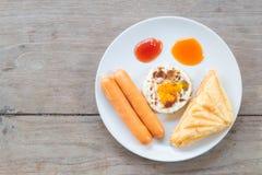 Café da manhã na tabela de madeira Imagem de Stock Royalty Free
