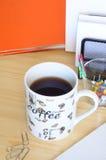 Café da manhã no escritório Foto de Stock