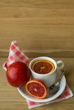 Café da manhã no escritório Imagens de Stock