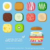 Café da manhã personalizado ilustração do vetor