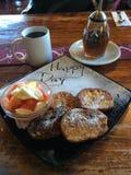 Café da manhã, Posada de Santiago, lago Atitlan, Guatemala Imagens de Stock Royalty Free