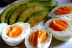 Café da manhã saudável - abacate e ovos Fotografia de Stock Royalty Free