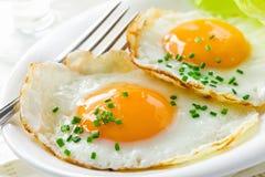 Café da manhã saudável com ovos fritos Fotografia de Stock Royalty Free