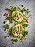 Café da manhã saudável com salada de fruto Fotos de Stock