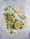 Café da manhã saudável com salada de fruto Foto de Stock