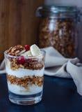 Café da manhã saudável do granola imagens de stock