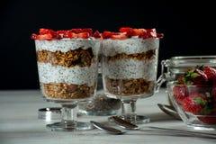 Café da manhã saudável para de duas pessoas Fotografia de Stock